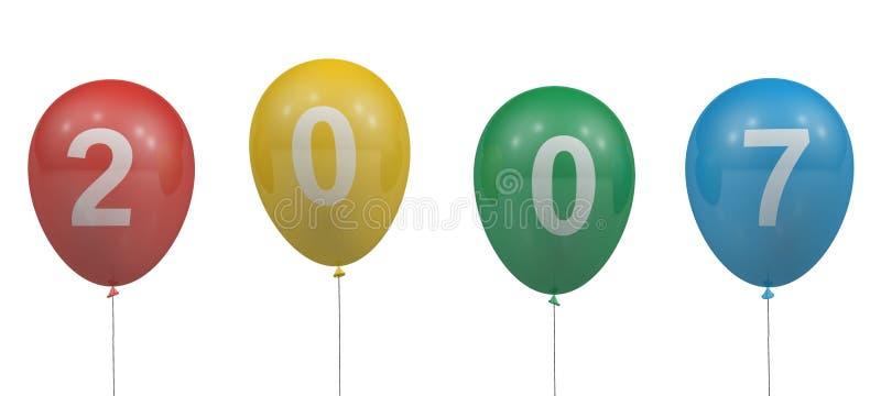 Download 2007 воздушных шаров иллюстрация штока. иллюстрации насчитывающей ново - 491679