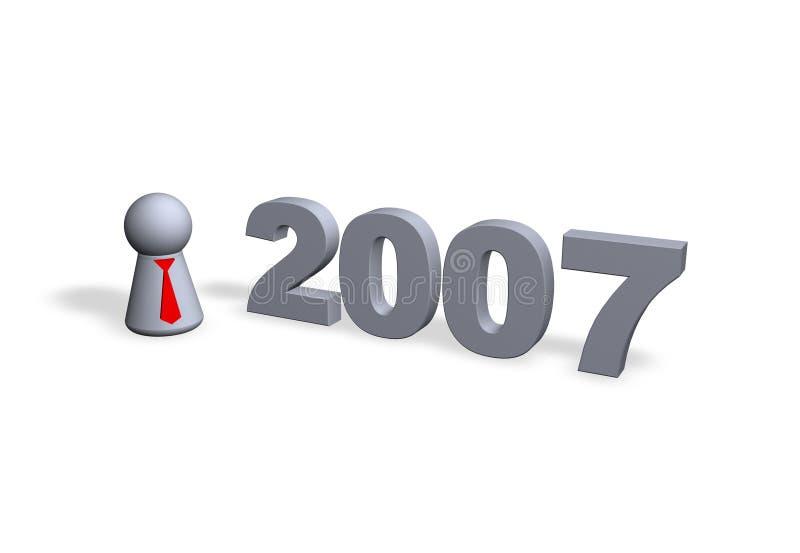 2007 ilustração stock