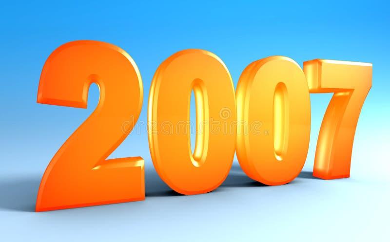 2007 διανυσματική απεικόνιση