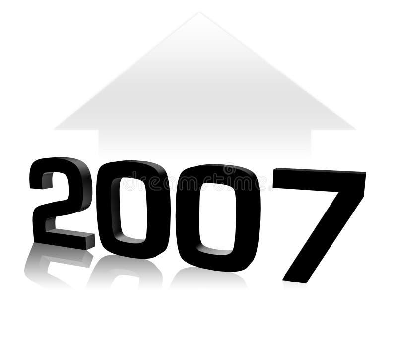 2007 illustrazione vettoriale