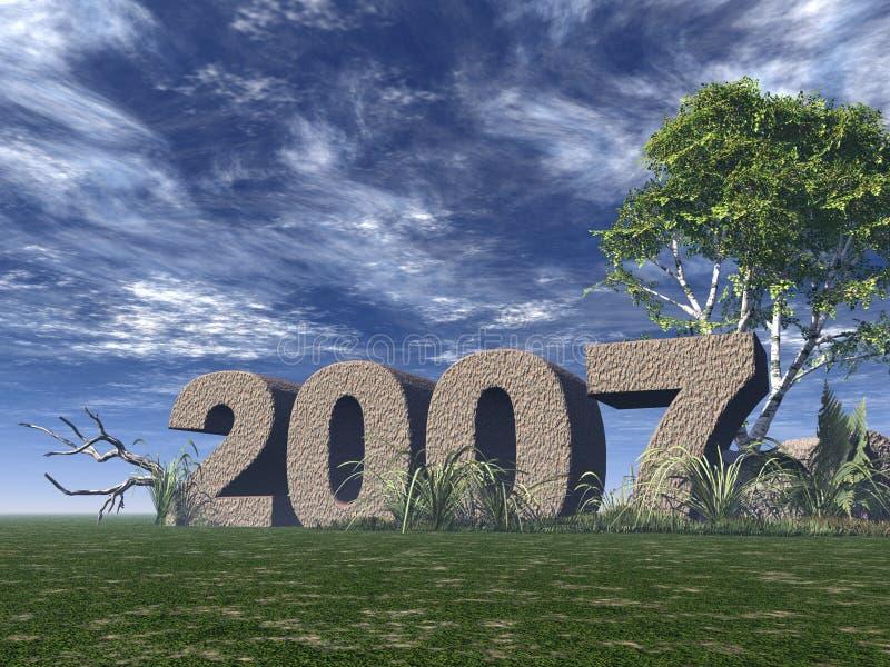 2007 ilustración del vector
