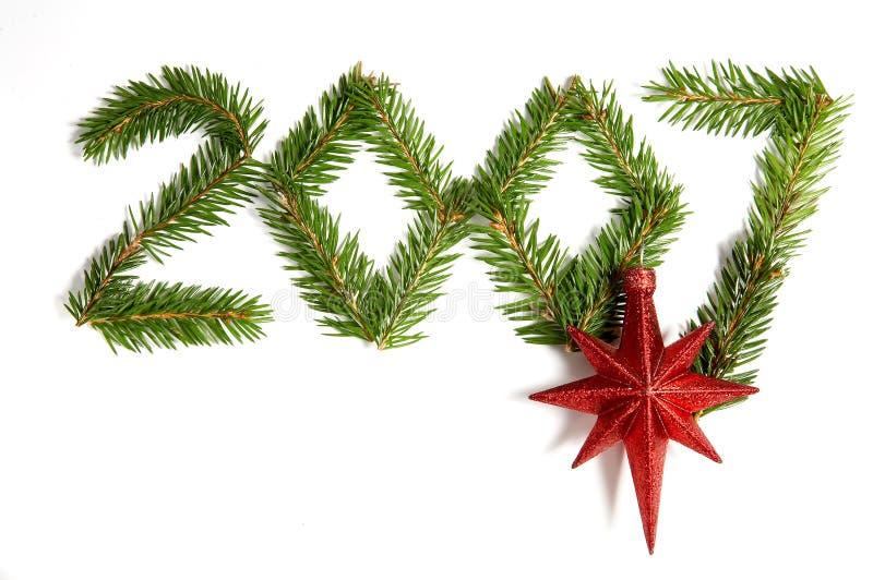 2007 con la decoración de la Navidad foto de archivo libre de regalías