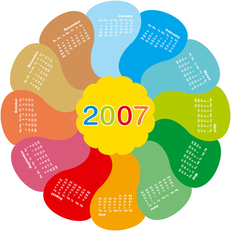 2007calendar4 royalty free stock images