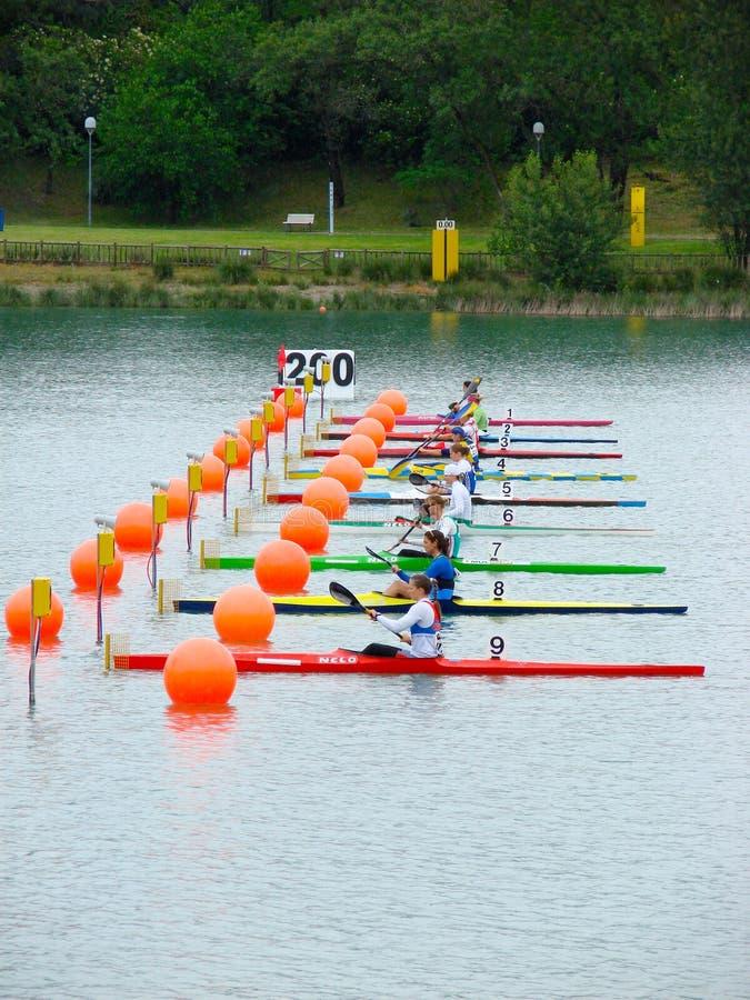2008个冠军欧洲flatwater 库存图片