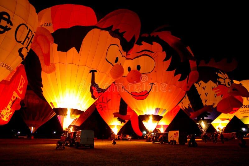 2008个气球热费拉拉的节日 库存图片