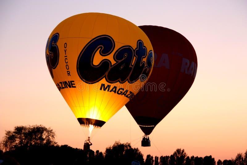 2008个气球热费拉拉的节日 免版税库存图片