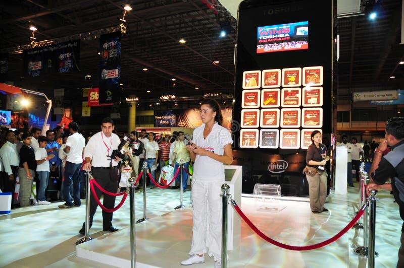 2008场比赛gitex介绍顾客东芝 库存照片