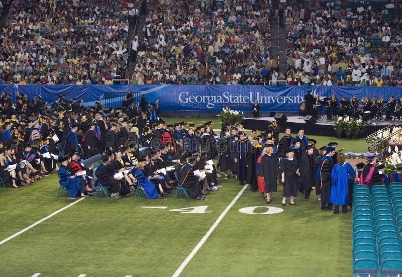 2008年仪式佐治亚毕业州立大学 免版税库存照片