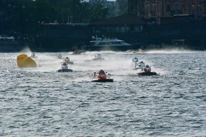 2008年冠军f1我m快速汽艇u世界 库存图片