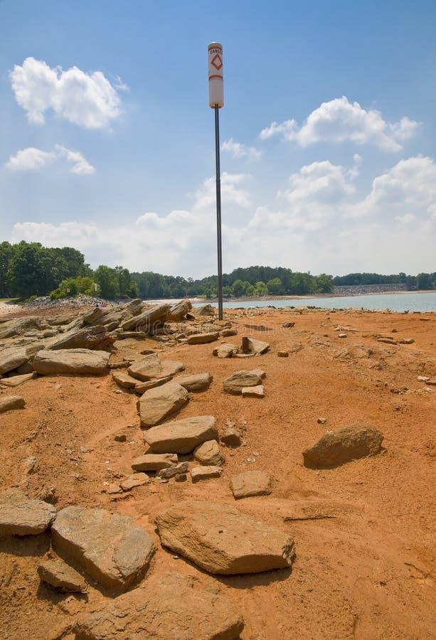 2008年湖lanier级别最低水位 库存图片