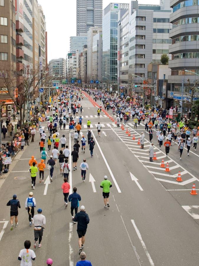 2008年马拉松运动员东京 库存照片