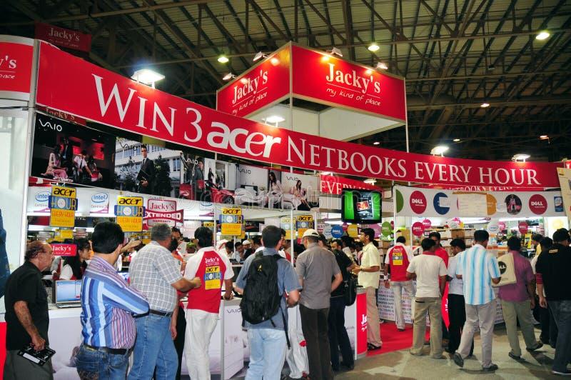2008年gitex jacky s顾客 免版税库存照片