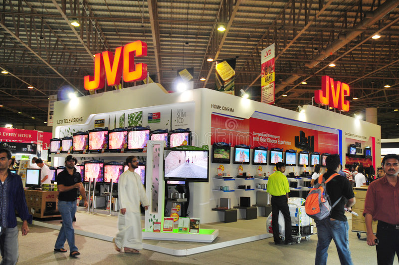 2008年gitex jvc顾客停转 免版税库存图片