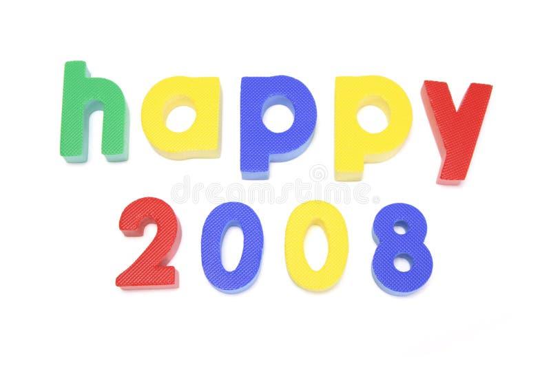 2008愉快 库存照片