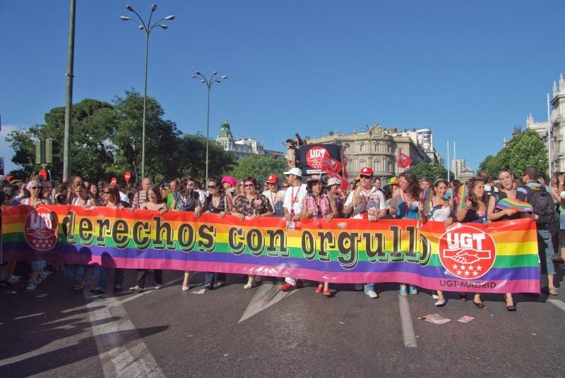 2008 голубых madrid -го гордостей в июле стоковое изображение rf