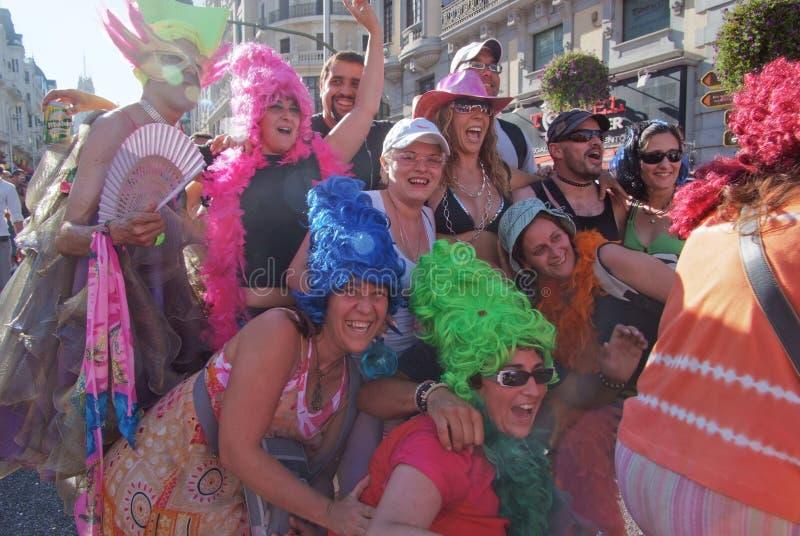 2008 голубых madrid -го гордостей в июле стоковые изображения