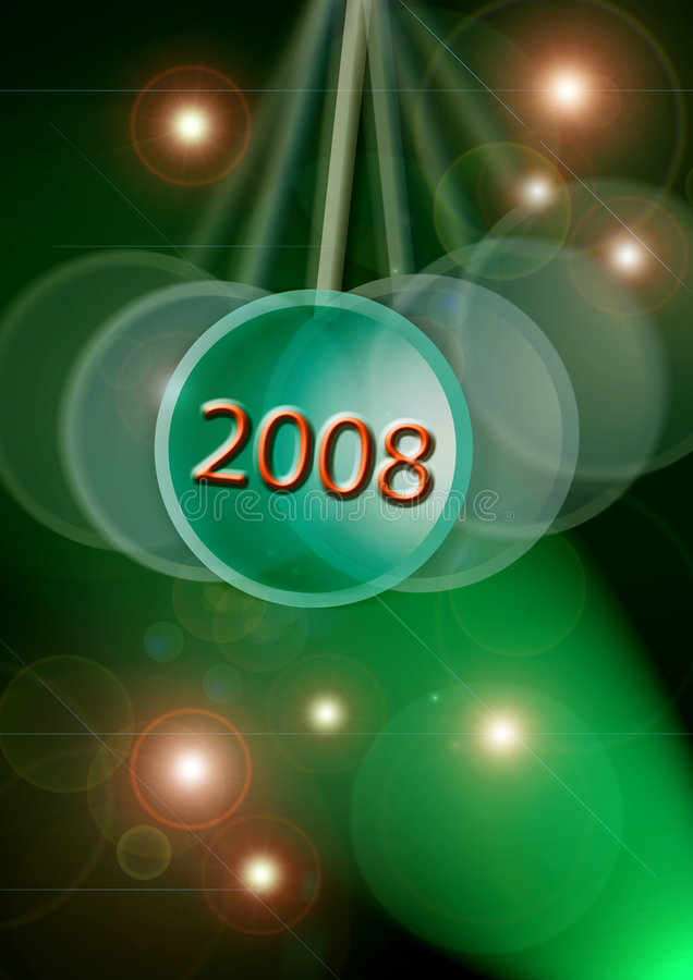 2008. The New year 2008 celebration vector illustration