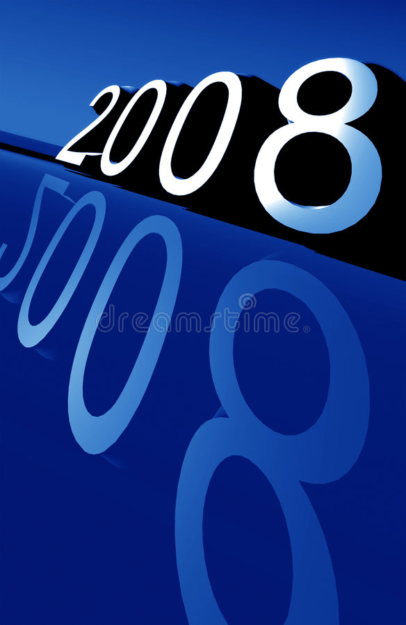 2008. New year 2008,3D digital art vector illustration
