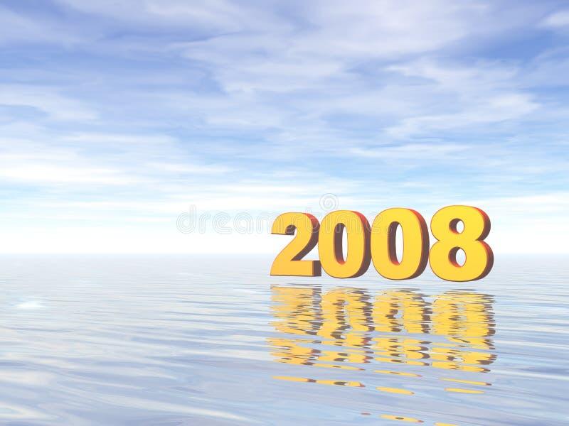 2008 illustrazione vettoriale