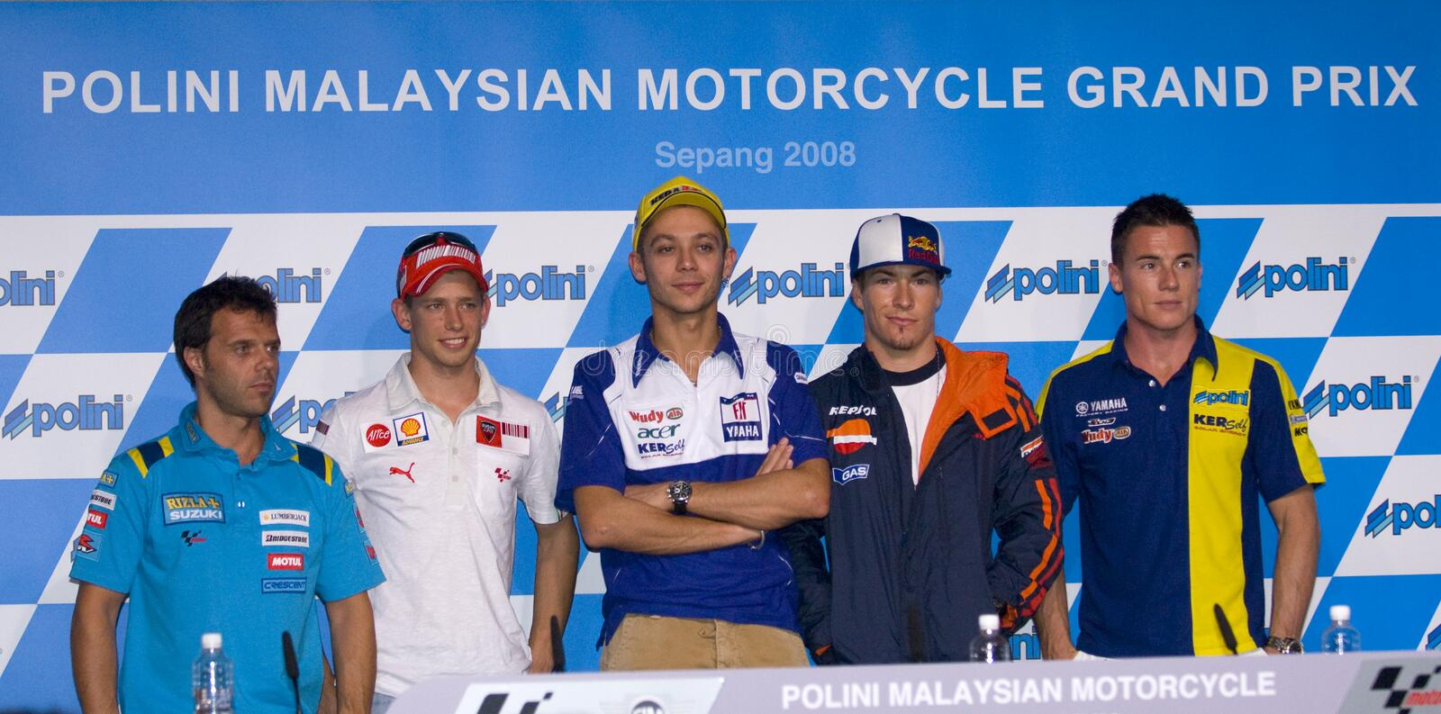 Download 2008 5 Motogp Riders  At Press Conference. Editorial Photography - Image: 7686047