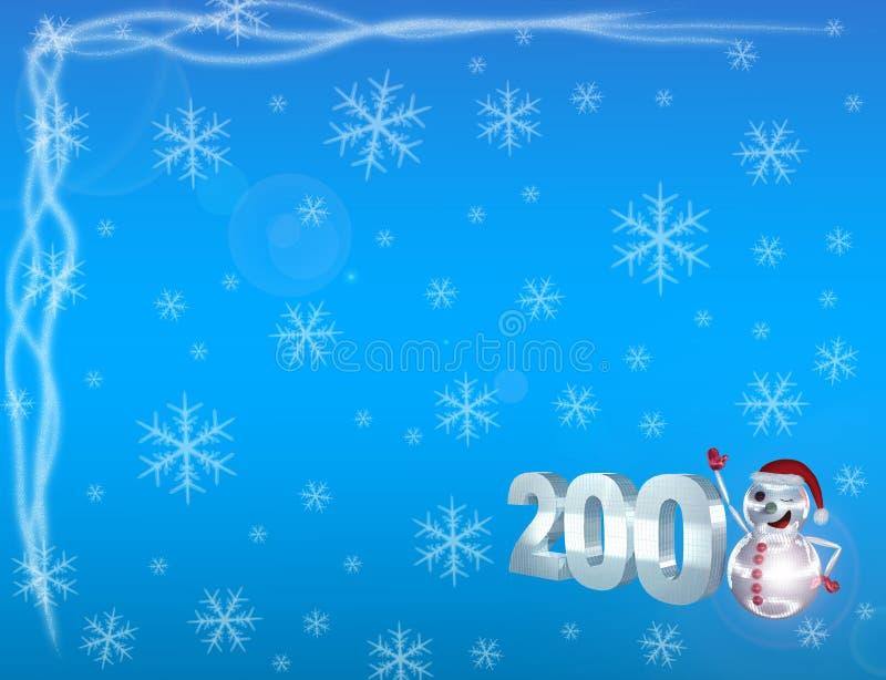 2008&snow.jpg photographie stock libre de droits