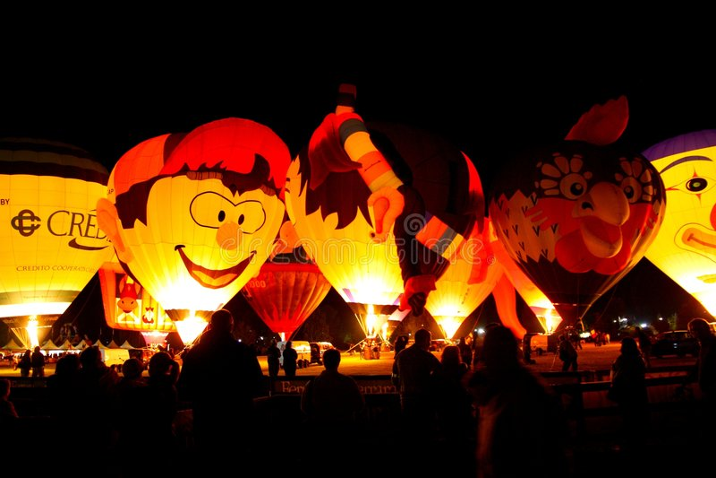 2008 balonów lotniczych Ferrara festiwal gorąco fotografia royalty free