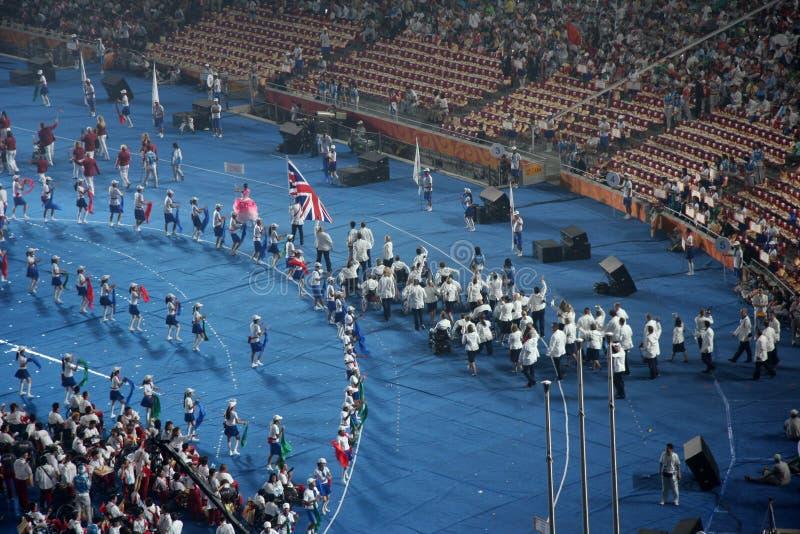 2008 Beijing gry paralympic fotografia royalty free