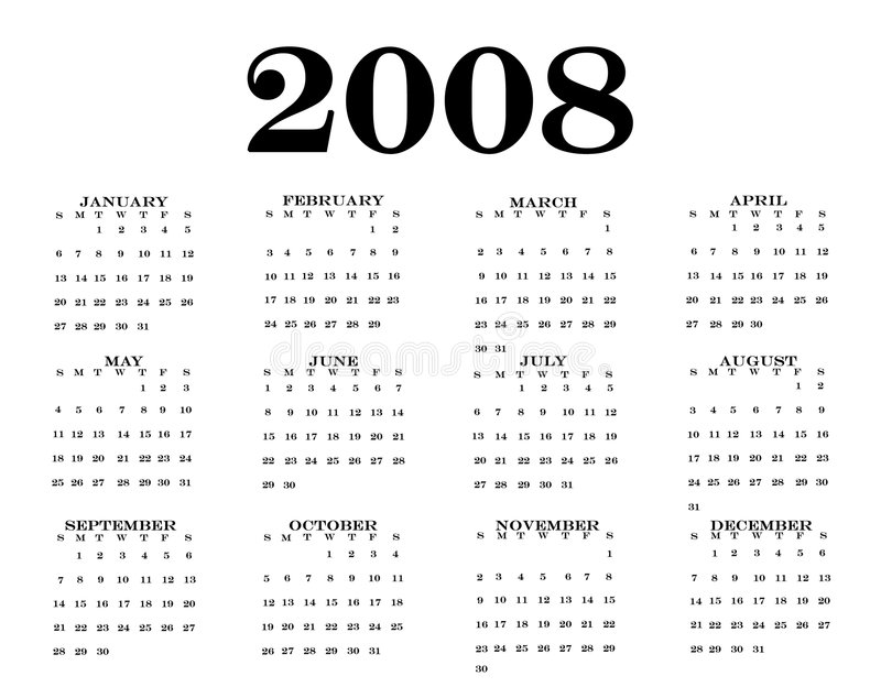 2008 Calendar vector illustration