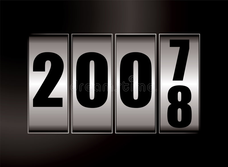 2008 change. New year illustration for 2008 with a dial effect stock illustration