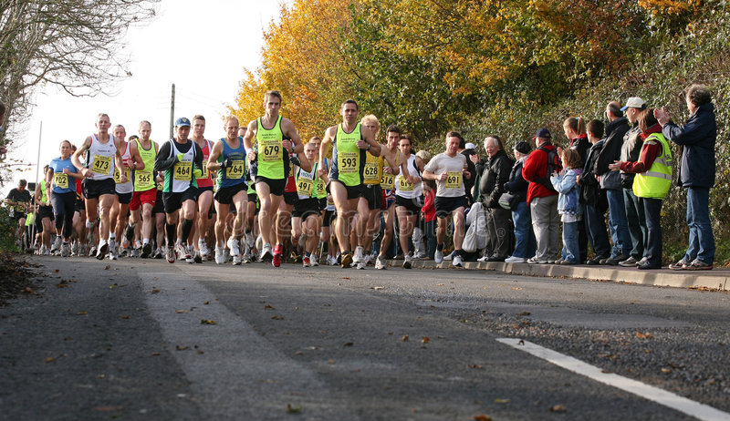 2008 Cheddar 1/2 Marathon royalty-vrije stock afbeelding