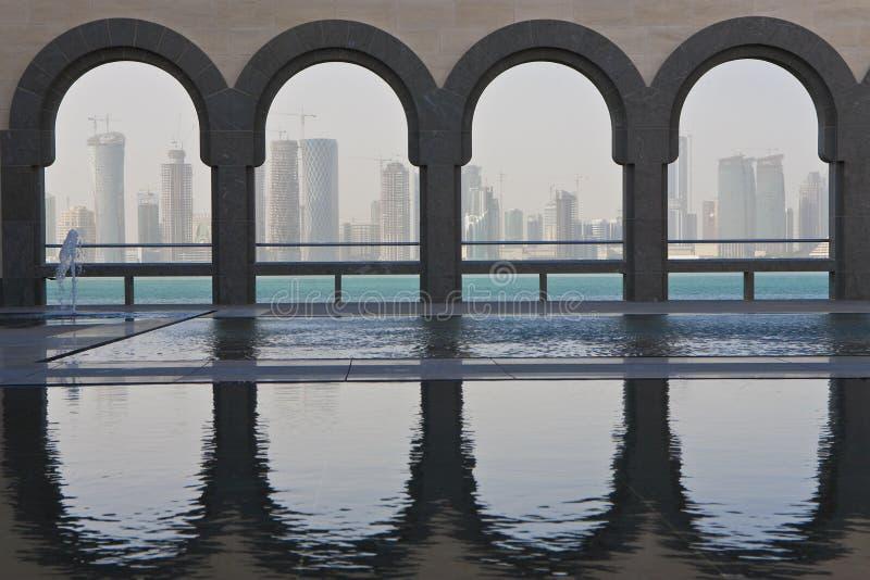 2008 december doha qatar horisont royaltyfria foton