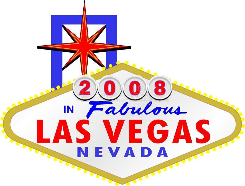 2008 in Fabelachtige Las Vegas Nevada vector illustratie