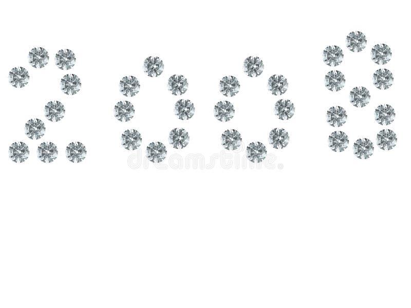 2008 - figura de gemstones ilustração stock