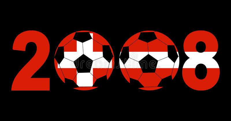 Download 2008 With Footballs And Flags Stock Photography - Image: 4168242
