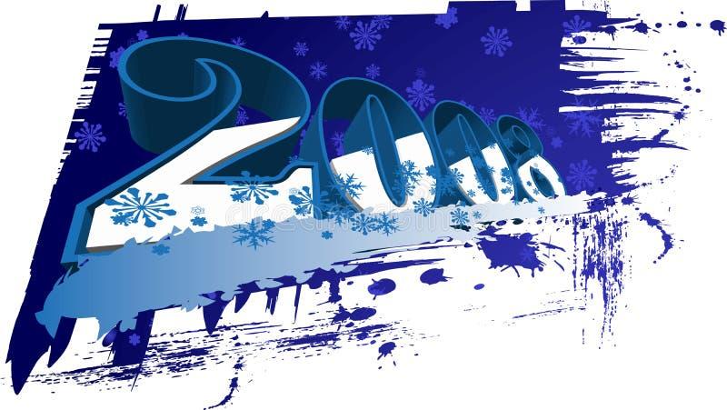 2008 Gelukkig Nieuwjaar vector illustratie