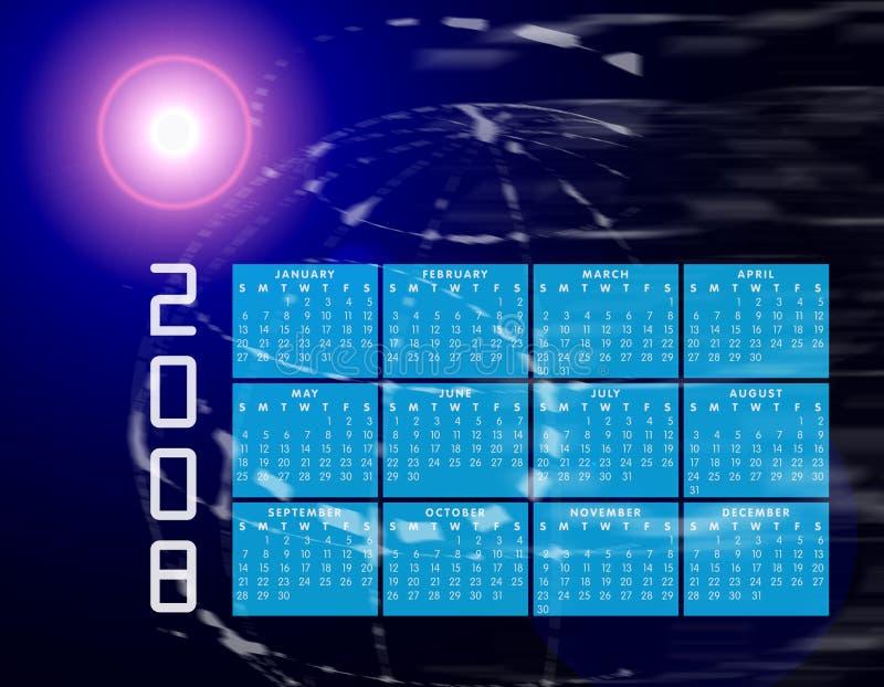 2008 kalendarzowego globu świat ilustracji