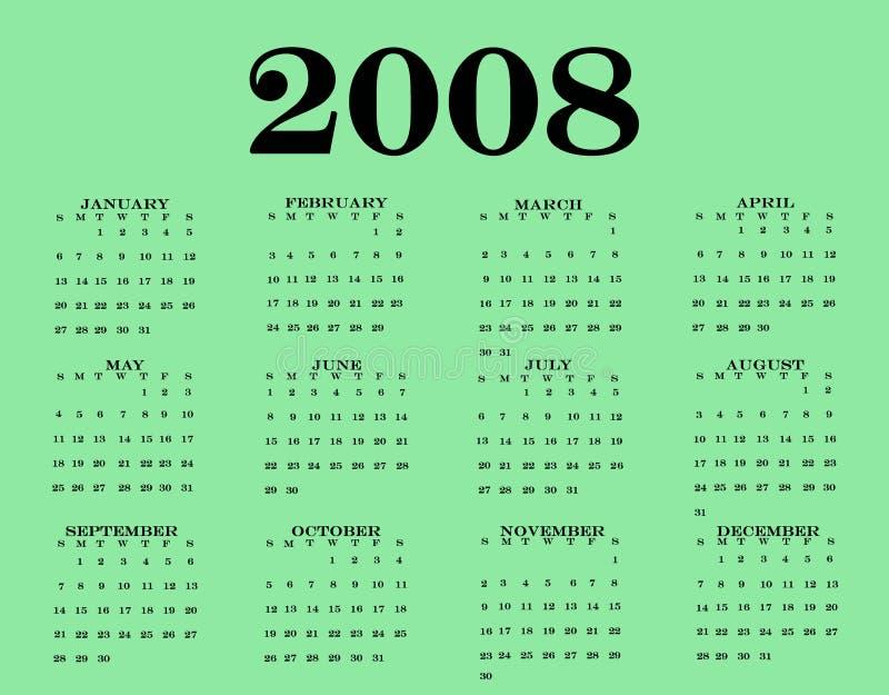 2008 Kalender vector illustratie