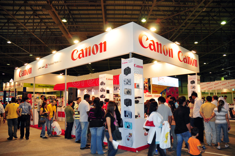 2008 kanonu gitex kupujący obrazy stock