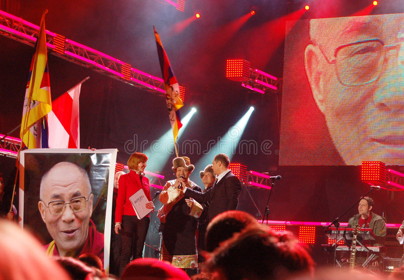 2008 koncert Białorusi solidarność zdjęcia stock