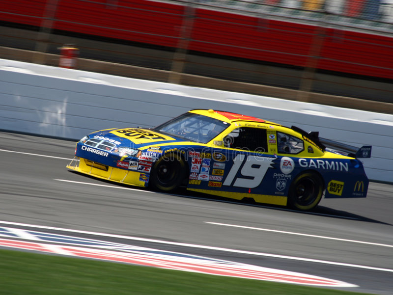 2008 NASCAR - #19 Elliott Sadler fotos de stock