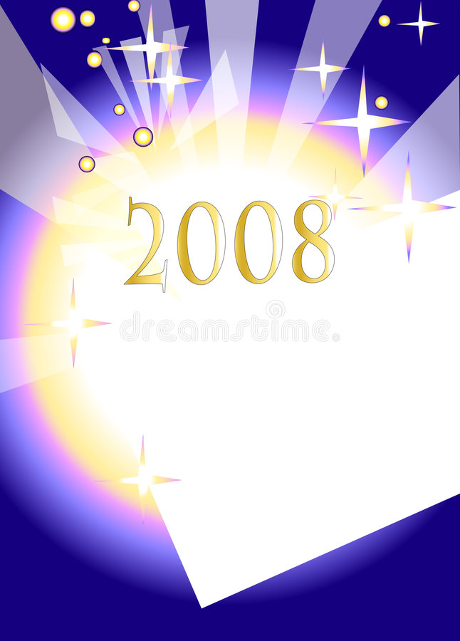 2008 new year. Greetings card royalty free illustration