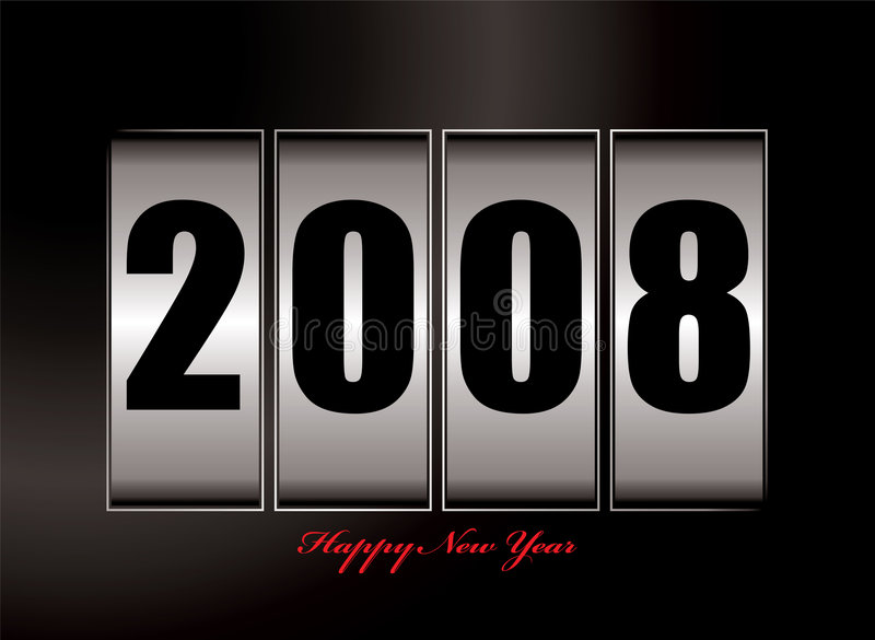 2008 new year. Illustration of 2008 image with new year text vector illustration
