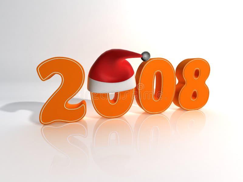 2008 nya år royaltyfri illustrationer