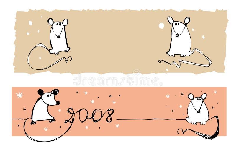 2008 ratas - banderas ilustración del vector