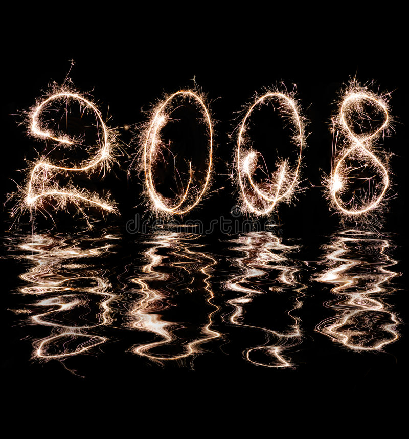 2008 reflection in water stock photos
