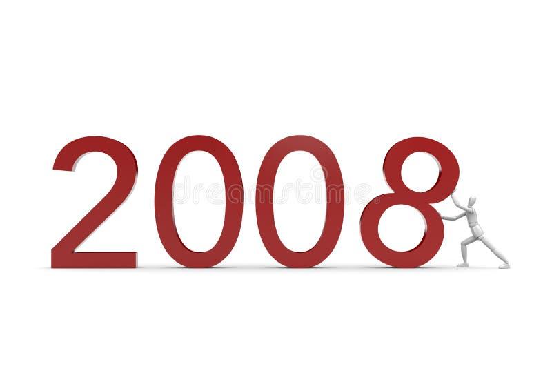2008 som kommer stock illustrationer