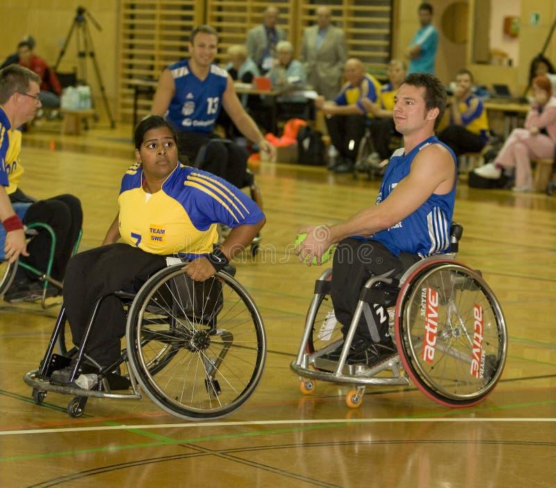 2008 wydarzenia handball wózek inwalidzki zdjęcie stock