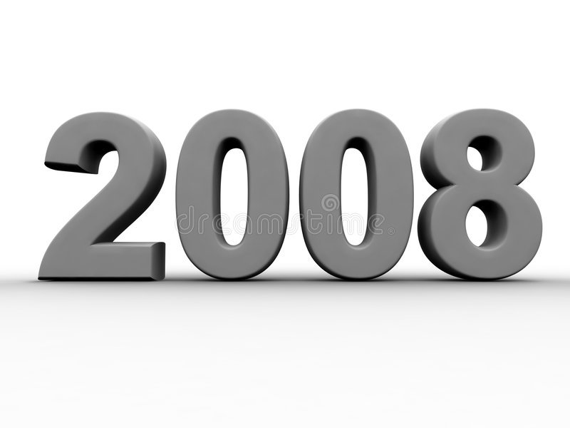 2008 Year. Isolated 3d illustration vector illustration