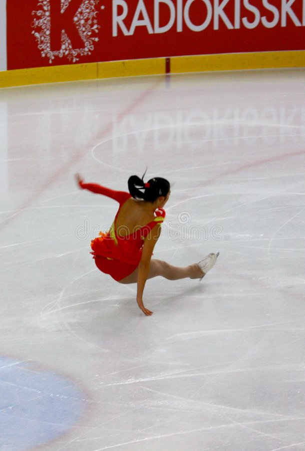 2009个冠军形象意大利整体滑冰 库存图片