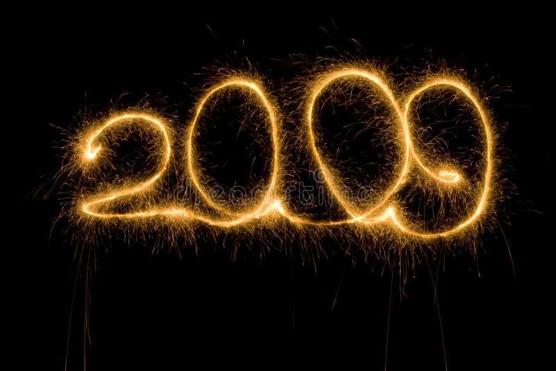 2009个编号闪烁发光物 免版税库存图片